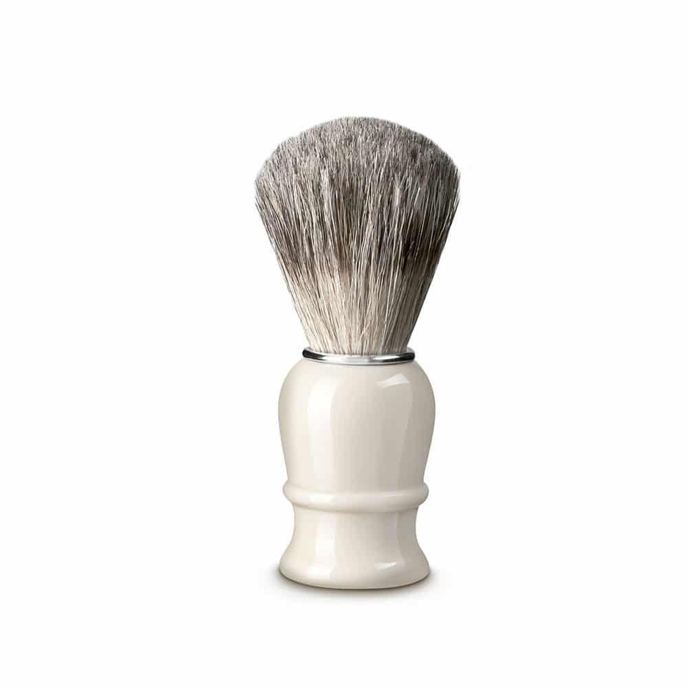 Blaireau poils pur 21mm plastique blanc