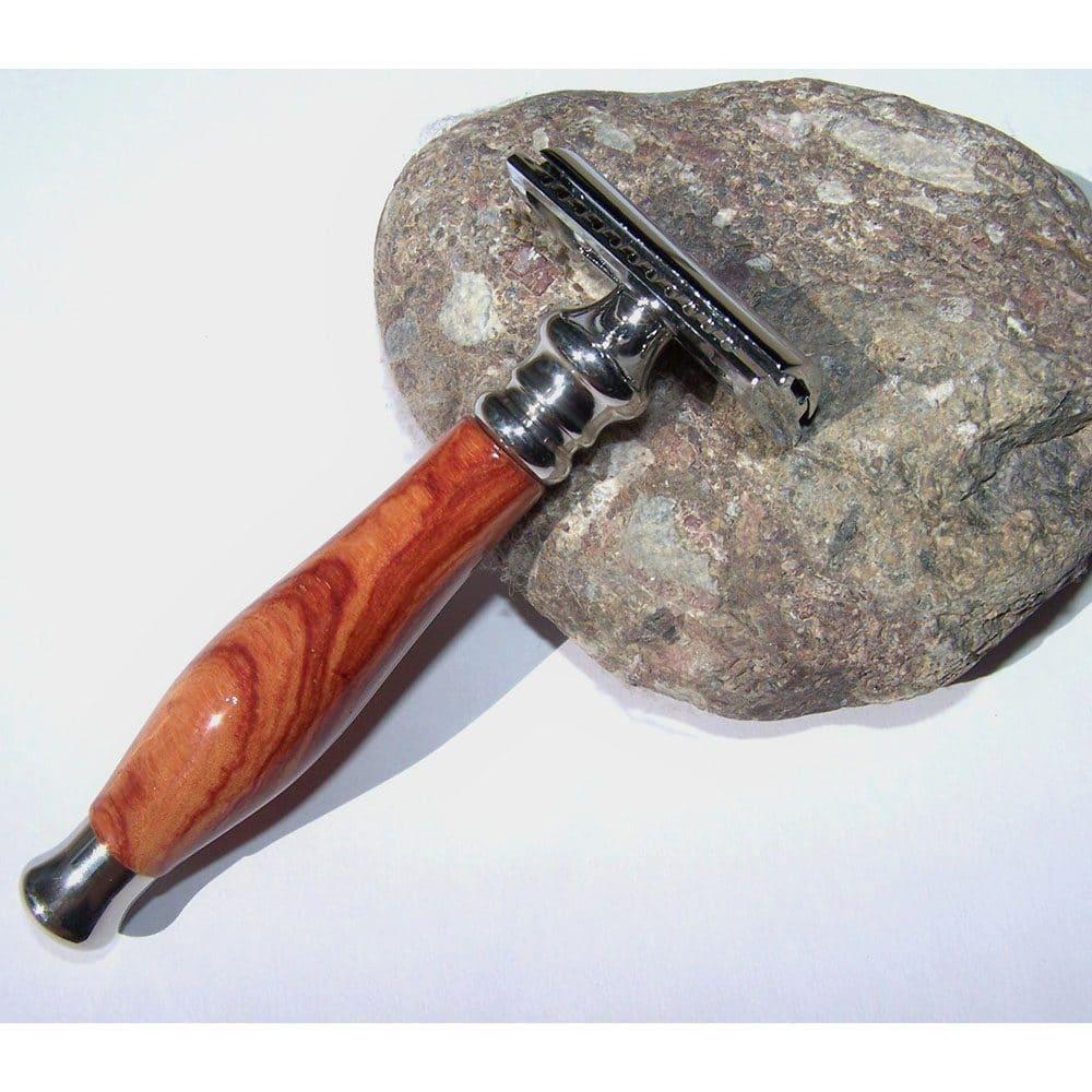 rasoir de sûreté en bois de rose